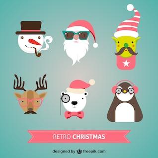 Caractères de Noël rétro