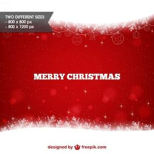 Fond rouge et blanc de Joyeux Noël