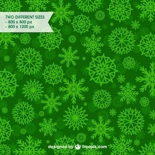 Flocons de neige verts modèle