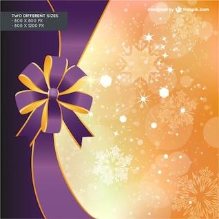 Fond de Noël avec le ruban violet