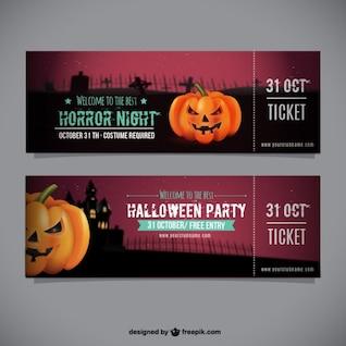 Halloween modèle de billet de partie