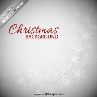 Fond de Noël avec des flocons de neige blancs