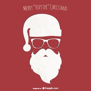 Vecteur hipster carte de Noël