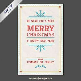 Modèle gratuit de carte vintage pour Noël