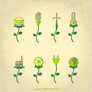 Concept de vecteur de l'industrie écologique
