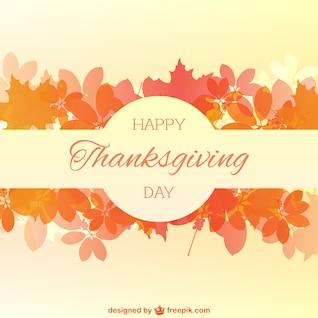 Heureux carte de thanksgiving avec des feuilles d'automne