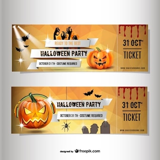 Halloween billets costume de fête