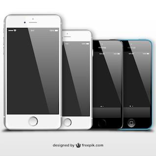 Iphones en noir et blanc