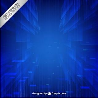 Technologie fond bleu vecteur libre