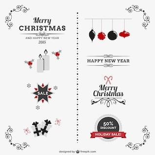 Ornements de Noël classiques vintage