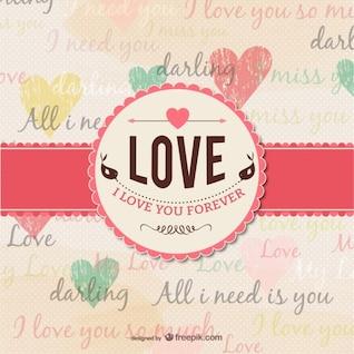 Grunge carte d'amour