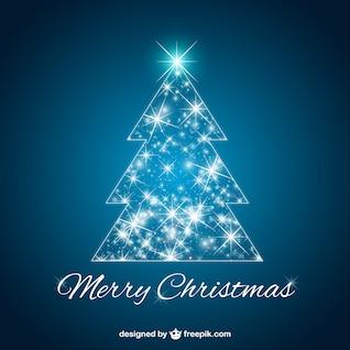 Vecteur de Noël rougeoyant d'arbre