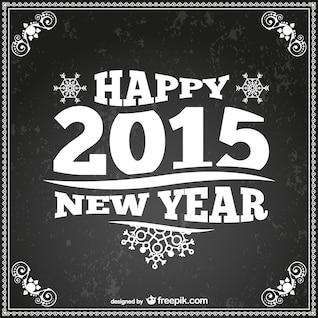 Style rétro carte de nouvel an