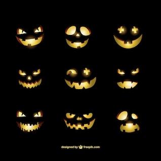 Halloween citrouilles smileys