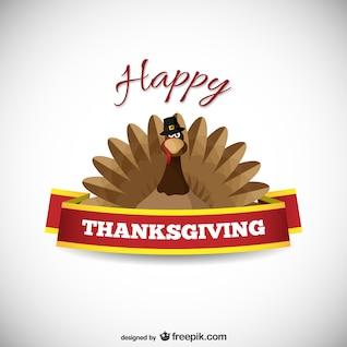 Carte de thanksgiving avec la dinde