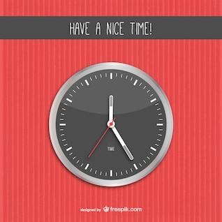 Un vecteur de temps agréable avec horloge