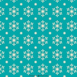 Motif de flocons de neige de style rétro
