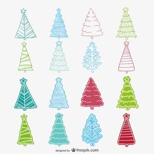 Coloré arbre de Noël sommaire