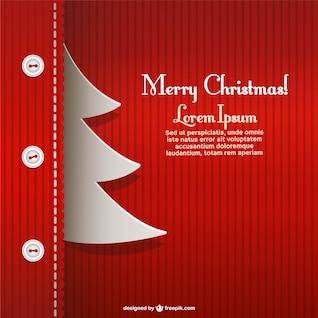 Modèle de carte de Noël créatif