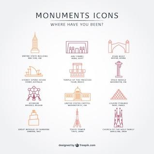 Attraction touristique Icon Pack
