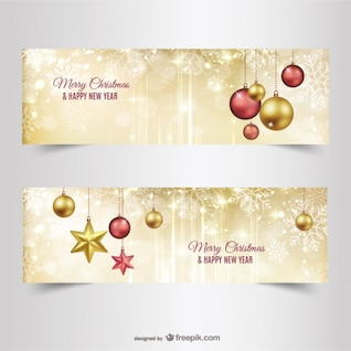 Christmas banners or