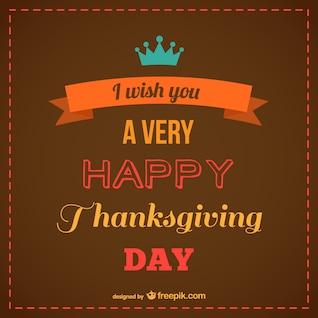 Bonne vecteur libre Thanksgiving