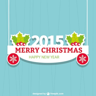 Flat carte de Noël pour 2015