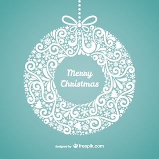 Joyeux floral carte de Noël