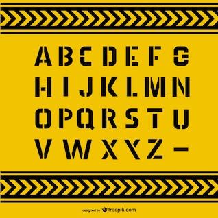Grunge lettres de l'alphabet