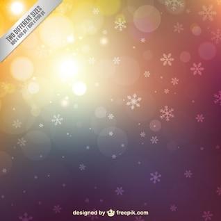 Résumé de fond l'hiver avec des flocons de neige