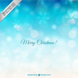 Carte de Joyeux Noël avec des flocons de neige