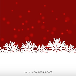 Rouge et blanc de fond l'hiver