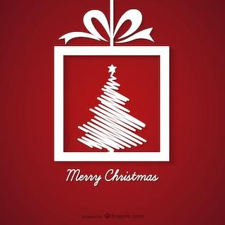 Rouge et blanc carte de voeux de Noël