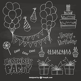 Fête d'anniversaire gribouillis