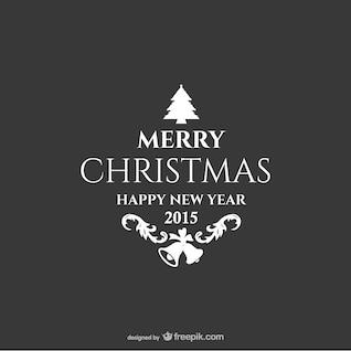 Étiquette vintage de Noël