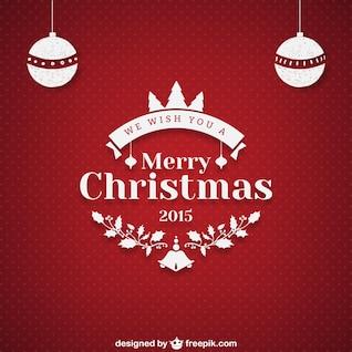 Voeux de Noël avec un fond rouge en pointillé