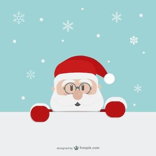 Père Noël dessin animé visage