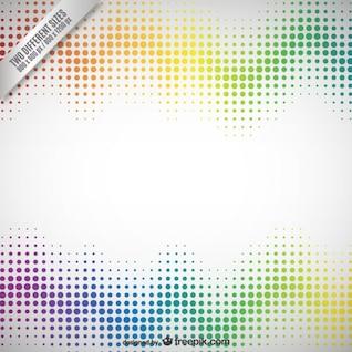 Résumé de fond avec des points colorés