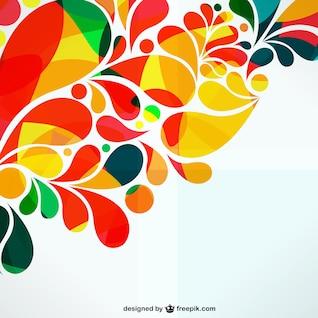 Conception abstraite d'ornement coloré