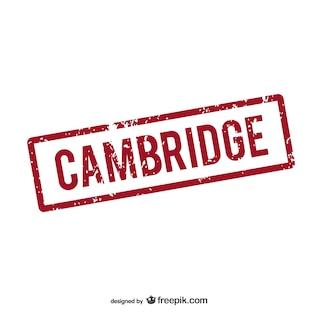 Cambridge tampon en caoutchouc logo