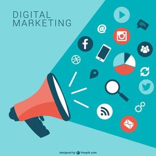 Numérique collecte des icônes de marketing