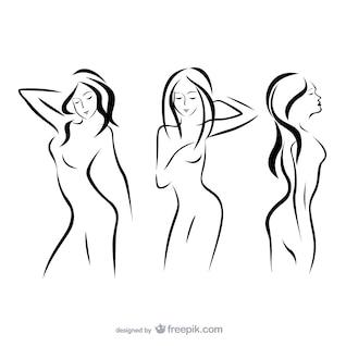 Femmes contour silhouettes
