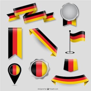 Éléments de conception de drapeau allemand