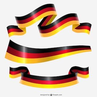 Allemagne ruban drapeau