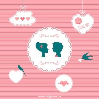 Romantique carte couple