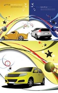 Lignes de voiture et vecteur dynamique du véhicule
