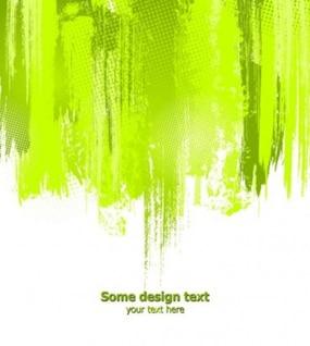 Éclaboussures de peinture verte tombe abstrait