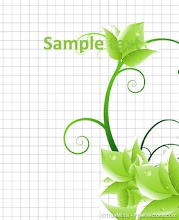 Vert floral banner