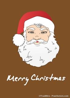 Illustration de bande dessinée face à Santa