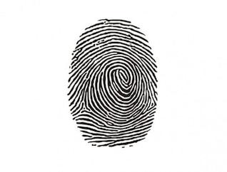 Empreinte d'identité marque d'encre